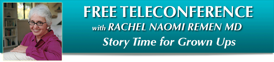 Teleconference banner for Story time for Grown Ups